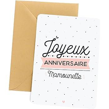 Carte Anniversaire Maman Carte De Voeux Joyeux Anniversaire Mamounette Carte D Anniversaire Amazon Fr Cuisine Maison