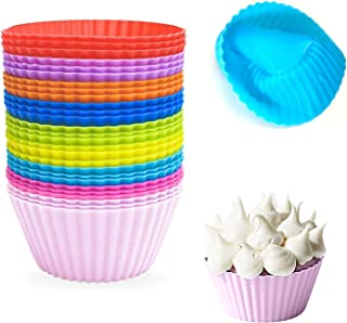 Silicone Baking Cups (27 Pack) Reusable Baking Cups Muffin Nonstick Baking cups Cupcake Silicone Liner Standard Size Silic...