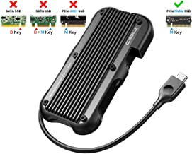 ineo USB C 3.1 Gen 2 Type-C Rugged Aluminum Cover M.2 PCIe NVMe SSD External Enclosure Case for 2280 2260 2242 2230 m2 NVMe SSD Caddy [C2594-NVME]