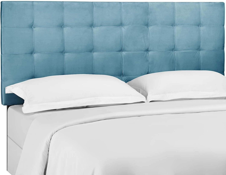 Modway MOD-5856-SEA Paisley Tufted California King Upholstered Performance Velvet Headboard Blue