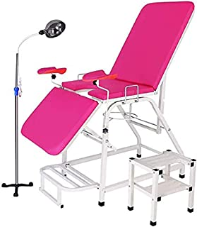 Gynecological Washing Bed,Examination Bed,Flush Bed Portable Fold with Footstool Reflective Light Stand for Hospital Beaut...