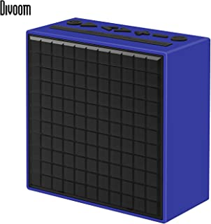 Divoom Timebox Smart Bluetooth Speaker with Alarm Clock, APP-Controlled Pixel Art Creation, Animation, Notification, Message Recorder and FM Tuner (Blue)