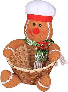 MonbedosPanier de Bonbons pour Les Enfants Panier de Bonbons de Noël Boîte de Bonbons Bonhomme en Pain d'épice Taille: 12...
