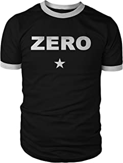 Zero Ringer Shirt, White Print on Ringspun Black and White Ringer, Great Daily Comfy Shirt or a Fantastic Cosplay Item!