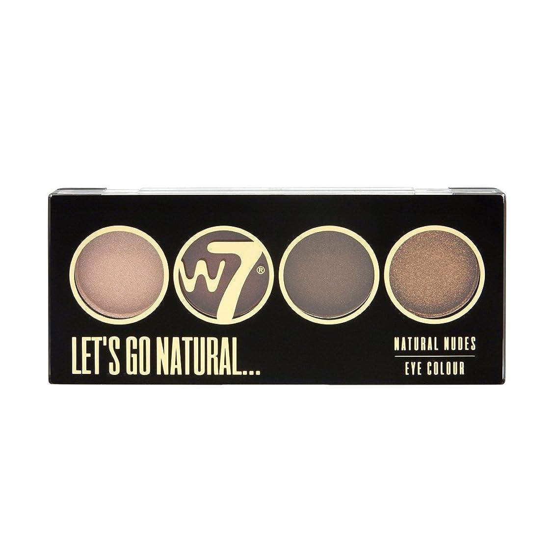 備品二年生生き物(3 Pack) W7 Let's Go Quad Eye Color Palette - Let's Go Natural (並行輸入品)