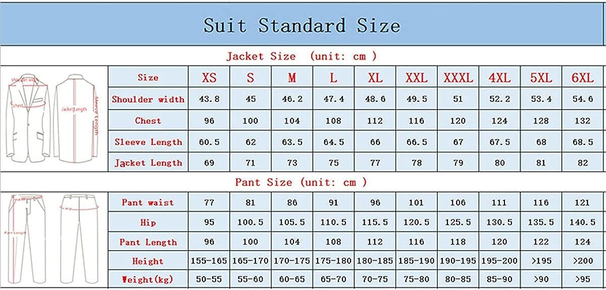 CACLSL Jacket + Pants Casual Business Men's Suit Wedding Suit Men's Tuxedo Slim Lapel Suit