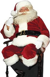 Santa Suit Crimson Imperial Adult Mens Costume Christmas Red Theme Party Attire