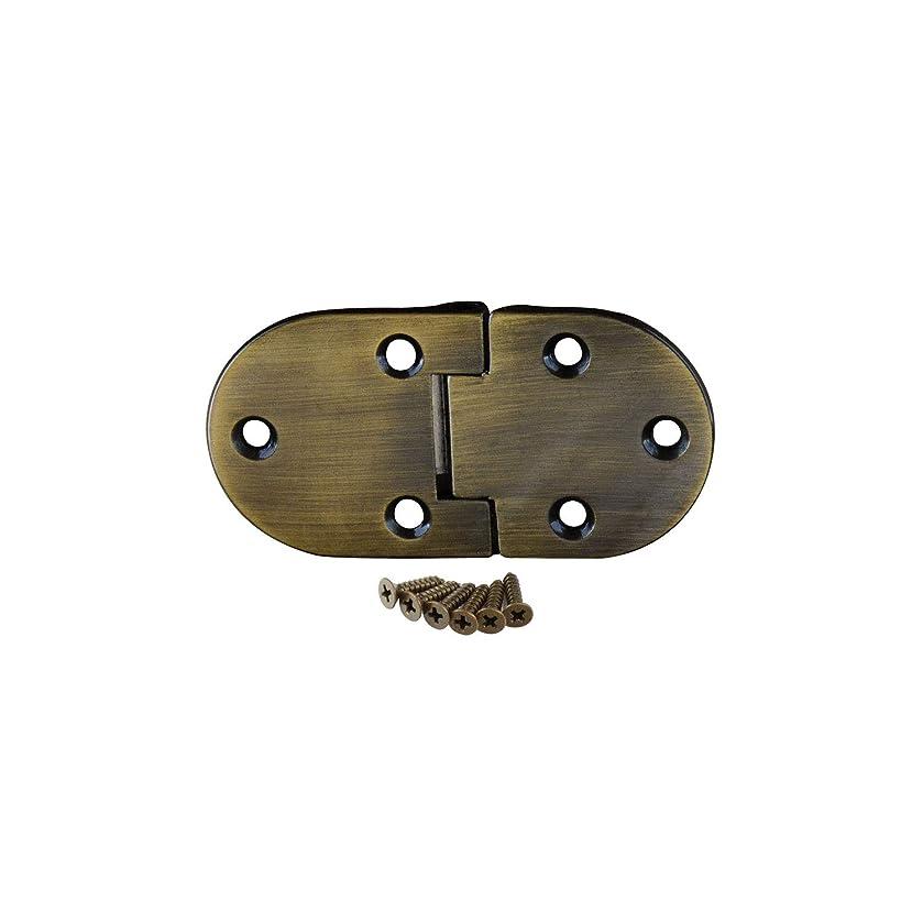 Baltimore Hardware Butler Tray Hinge, Brushed Antique Brass - 8 Pack