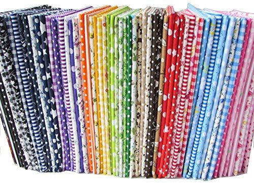 "kabi 56pcs/lot 9.8"" x 9.8"" (25cm x 25cm) No Repeat Design Printed Floral Cotton Fabric for Patchwork"