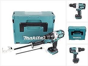 Makita DHP 481 ZJ - Taladro atornillador inalámbrico sin escobillas (18 V, 115 Nm, sin batería ni cargador)