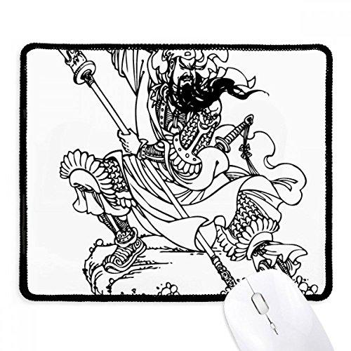 Mouse pad de borracha para jogos Masterpiece Romance Three Kingdoms China com borda costurada