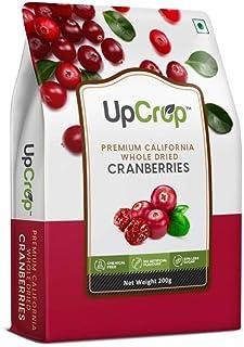 UpCrop Premium California Whole Dried Cranberries Bag, 200 g