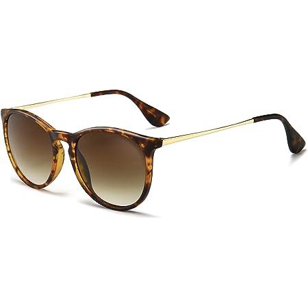 SUNGAIT Vintage Runde Sonnenbrille Damen Klassische Retro Designer-Stil Sonnenbrillen für Damen