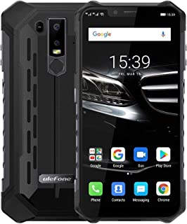 QUZH Cell Phones Smartphone Armor 6E Rugged Phone, Dual 4G & VoLTE, 4GB+64GB, IP68/IP69K Waterproof Dustproof Shockproof, Face ID & Fingerprint Identification, 5000mAh Battery, 6.2 inch Android 9.0 He