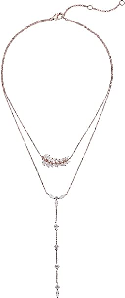 Fern 2 Row Lariat Necklace
