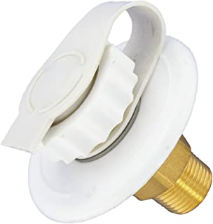 """Valterra A01-0170LF White 2-3/4"""" MPT Lead-Free Flush Mount Water Inlet"""