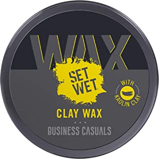 Set Wet Styling Hair Clay Wax 60g, Strong Hold, Ultra Matte Finish, With Kaolin Clay, Re-stylable Anytime, Easy wash off, ...