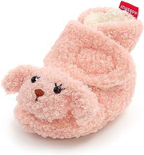 Timatego Newborn Baby Boys Girls Booties Stay On Socks Non Skid Soft Sole Infant Toddler Warm Winter House Slipper Crib Sh...