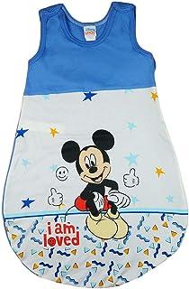 Kleines Kleid Disney Baby ärmelloser Sommer-Schlafsack in Größe 56 62 68 74 80 86 92 98 104 110 DÜNN Nicht gefüttert 100% Baumwolle, für Jungen mit Mickey Mouse