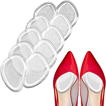 Premium Metatarsal Pads, Soft Ball of Foot Cushions,Reduce Foot Pain and Provide Support, Suit for Men Women & All Shoes Types(10Pcs)