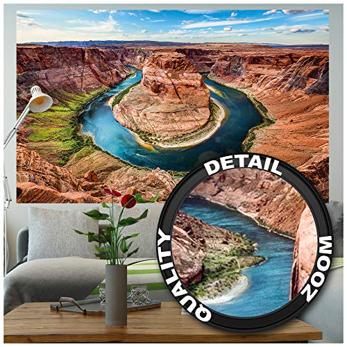 Great Art fotobehang – Grand Canyon muurschildering – XXL USA decoratie horseshoe Bend Landschap Amerika Arizona Schlucht Natuur Colorado River wandbehang fotoposter wanddecoratie (210 x 140 cm)