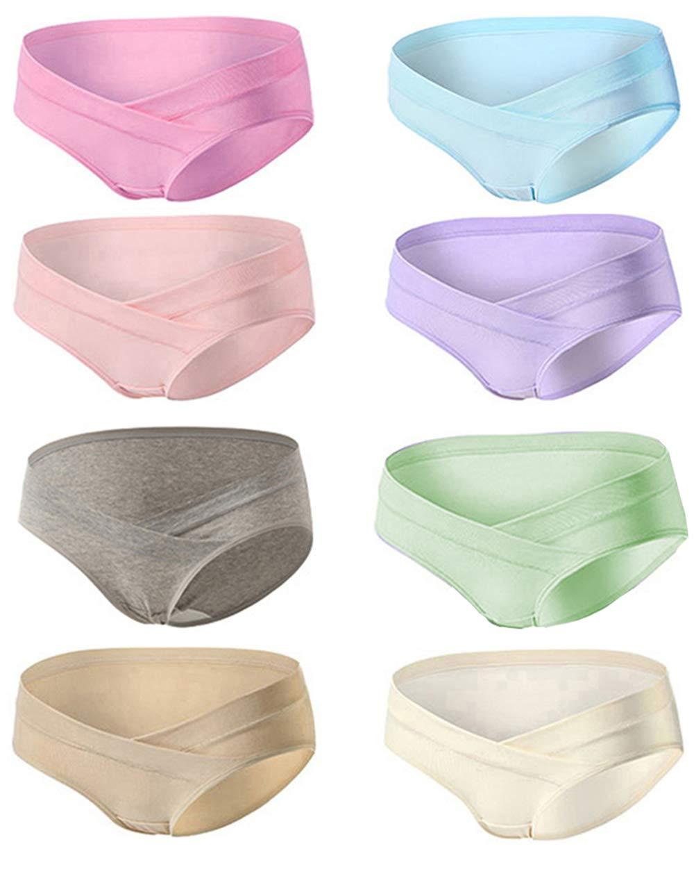 Mommy Jennie Women Under Bump Cotton Maternity-Underwear Multi Pack Healthy Maternity Pregnancy Panties