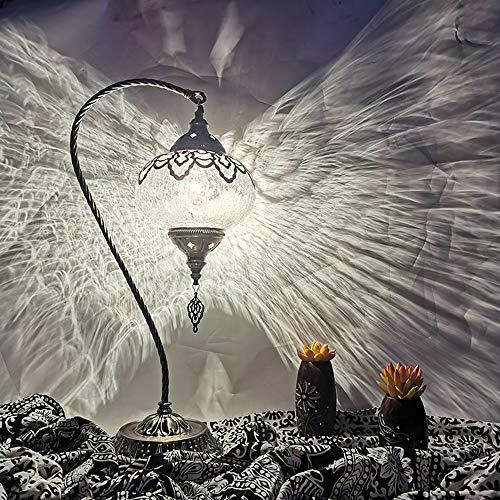 POKIXAAY Lámpara de Mesa de Cristal de Mosaico marroquí Tu