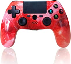 CHENGDAO PS4 Controller Wireless Dual Shock 4 Sixaxis Gaming Joystick for Playstation 4/PS4 Pro/Slim with Led Bar, Multi-Touch Clickable Touch Pad (Galaxy)