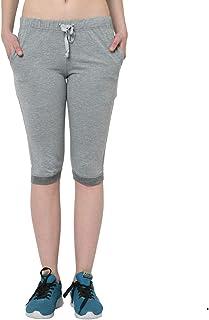 Trendygal Cotton Blended 3/4th Capri for Women's-F1-_000001-P-(Pack of 1)