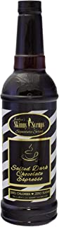Jordan's Skinny Syrups | Sugar Free Salted Dark Chocolate Espresso Coffee Syrup | Healthy Flavors with 0 Calories, 0 Sugar, 0 Carbs | 750ml/25.4oz Bottles - Pack of 6