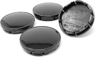 Finest Folia 4x Buje Tapa 56mm ABS plástico con Tapa en Aluminio Negro B Ware