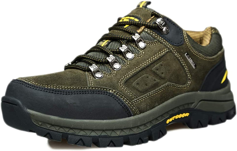 Men's Walking shoes Men Lightweight Leather Trekking Outdoor shoes Autumn Sneakers Rock Climbing Cross Country Running shoes