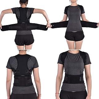 Back Brace Posture Corrector Elastic Adjustable Back Support Shoulder Brace Lumbar Waist Belt