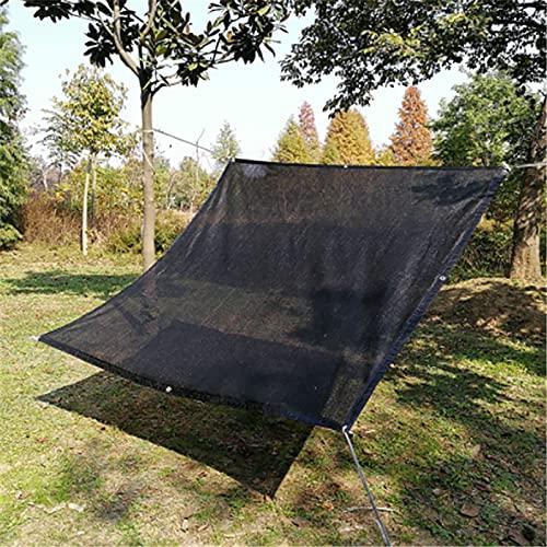 SANGSHI Shading Net, Garden Shade Net, 12 Pin Black Sunshade Netto Verschlüsselt Dicker Sonnenschutz-baldachin Sonnenkabinenschatten