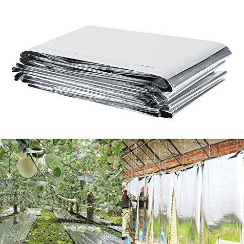 Pflanze Reflektierende Film,PETP-Folie hoch-reflektorisch Mylar Garten Deckblatt,ideal für den Einsatz im Garten oder Gewächshaus, um das Pflanzenwachstum zu steigern,210 * 120CM,Silber