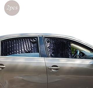 ZATOOTO Sonnenschutzrollo Auto (2 Stück), Sonnenschutz Auto Vorhang Zum Blockieren Von UV Strahlen und Zum Schutz Der Privatsphäre, Verbessert, Verdickt, Schwarz
