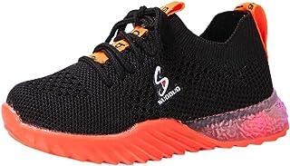 WEXCV Unisex baby jongens meisjes herfst winter lichtgevende effen schoenen voor kinderen lichte kruipschoenen geweven mes...