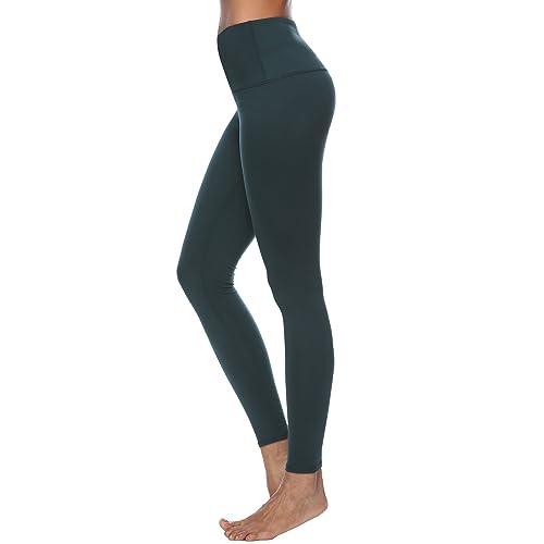 63f1e3045a0e1 FEIVO Yoga Pants, Women's Power Flex Yoga Pants Tummy Control Workout Yoga  Capris Pants Leggings