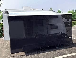 Tentproinc RV Awning Sun Shade 6' X 16' 3'' - Black Mesh Screen Sunshade Complete Kits Motorhome Trailer UV SunBlocker Tarp Canopy Shelter - 3 Years Limited Warranty