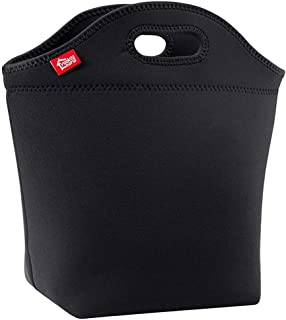 "Large Black Lunch Bag for Adults, Yookeehome 13.5"" x 13"" x 5.5"" Thick.."