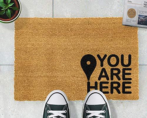Yor242len Felpudo de 60 x 40 cm, diseño de Mapa de «You Are Here Destine»
