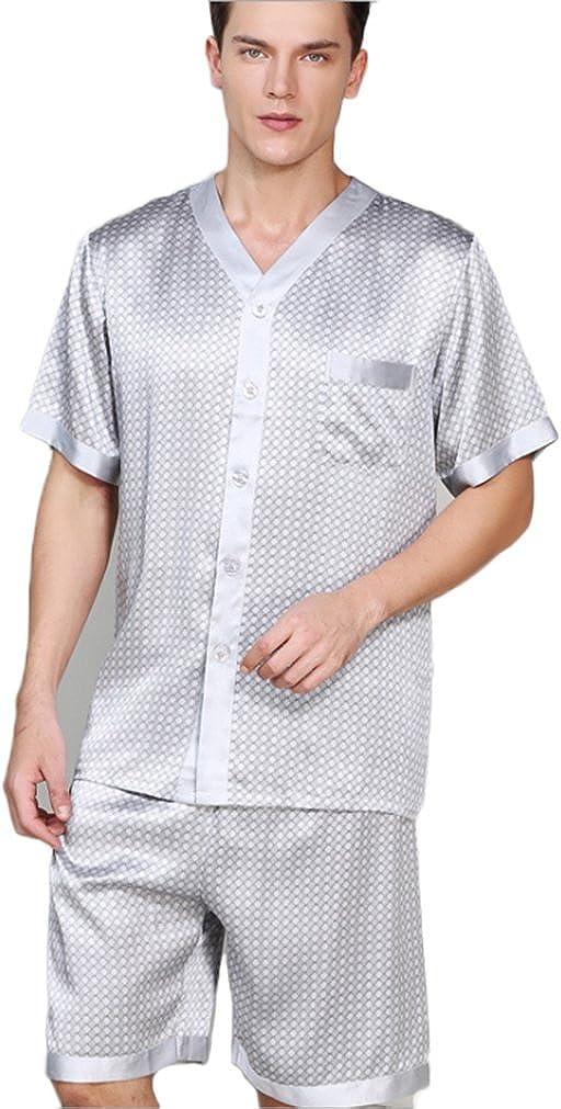 CLC Men's Pure Mulberry Silk Pajama Set Sleep Sets