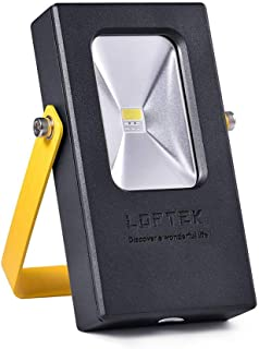 LOFTEK 15W Rechargeable Work Light, 7 Hours Lasting Battery Powered Flood Light with USB Ports and SOS Modes