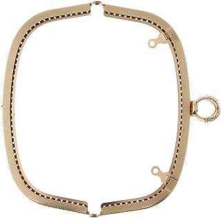 Baoblaze Metal Purse Arch Shape Frame, Clutch Handle Bag Kiss Clasp Lock, DIY Making Crafts