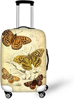 CHAQLIN Butterfly Luggage Suitcase Cover Thick Elastic Travel Baggage Accessories