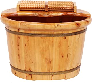 Qing MEI Foot Tub, Foot Bath Barrel, Wooden with Lid A++