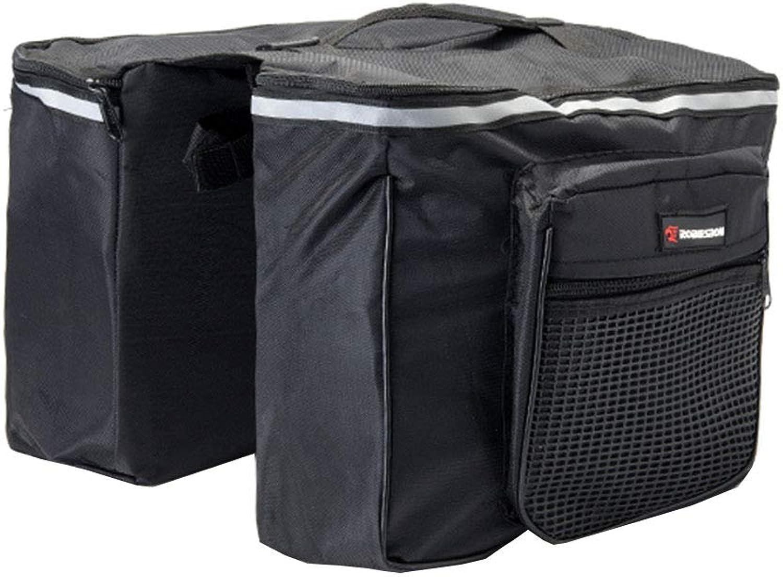 Cycling Bag, 25L Waterproof and TearResistant Mountain Bike Rear Bag Bicycle Equipment Accessories Flat Shelf Bag Black LXZXZ