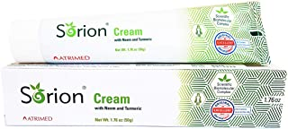 Sorion Cream (50 Grams) - Herbal Care for Red, Dry, Itchy, Flaky and Scaly Skin with Coconut Oil, Neem and Turmeric