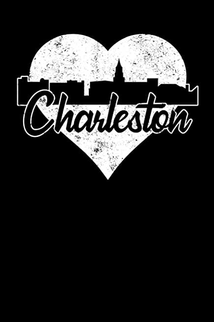 Charleston: 6x9 college lined notebook to write in with skyline of Charleston, South Carolina