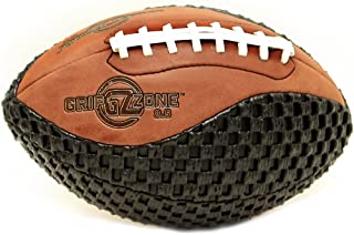 Fun Gripper-Grip Zone 8.5 inch Pee-Wee Size 6-9 Composite Leather Buckskin/Black Tacky Soft Mesh Extra Grip Football Training or Recreation Play by: Saturnian I P.E. Supplier